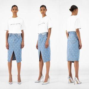 Daily Paper Blue Denim Rehowi Skirt
